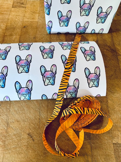 french bulldog wrapping paper, dog gift wrap, dog lover paper,gift paper dog