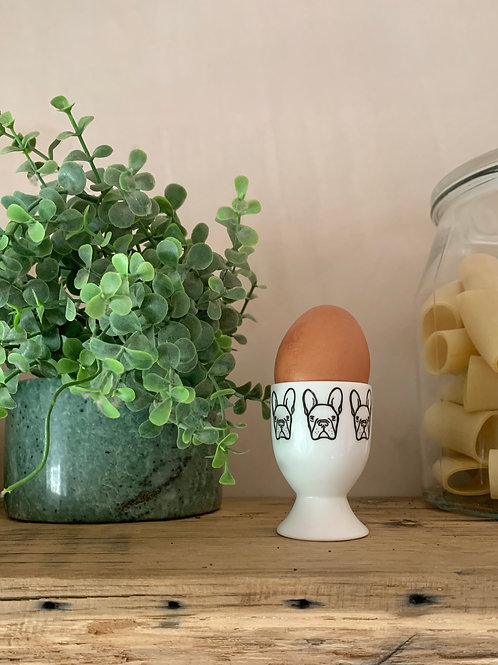 french bulldog eggcup, dog eggcup, kitchen gift for dog lover, new home gift, fr