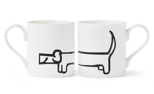 sausage dog mug set