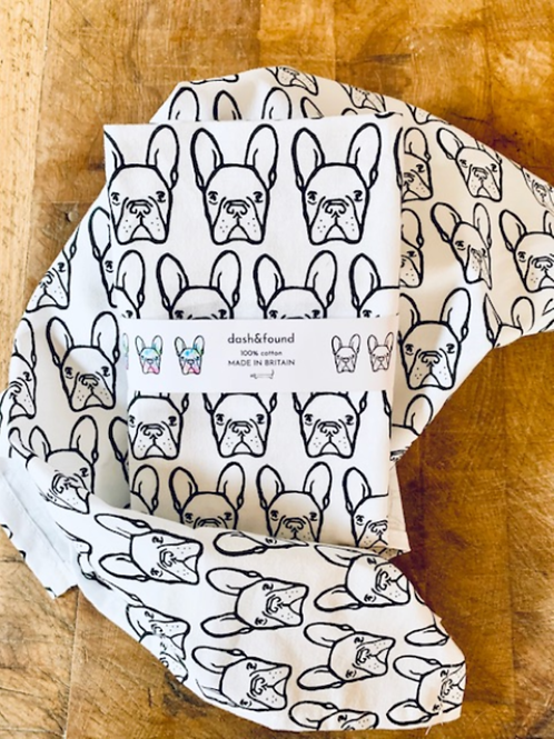 french bulldog tea towel, frenchie gift, bulldog present, dog gift, frenchie