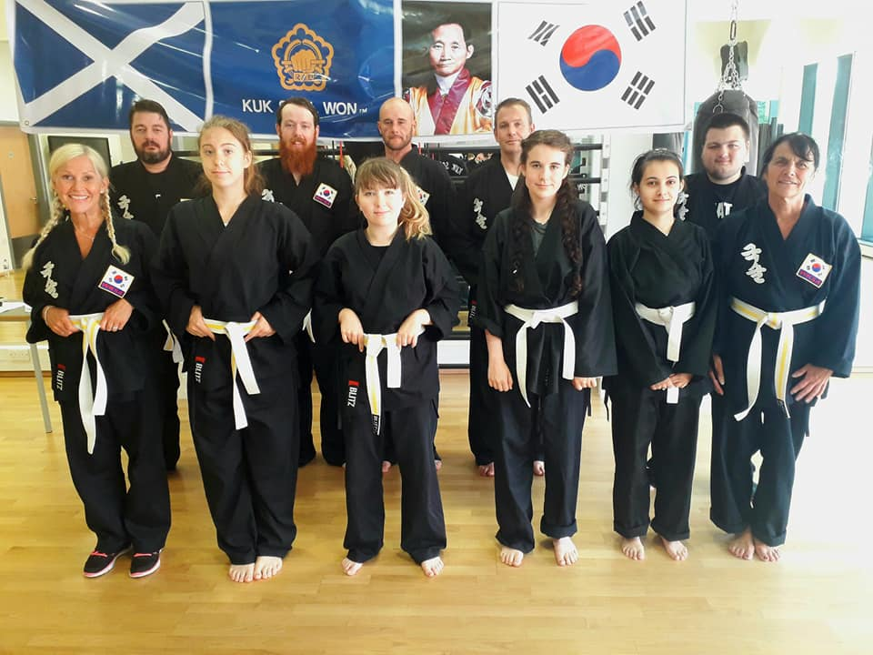 Kuk Sool Won of Perth Scotland first students