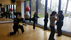 kicking practice MArtial arts in Perth