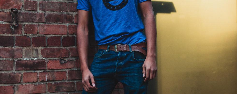 Upstruct Colors Shirt blau/meliert