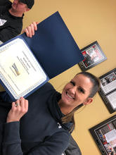 Randi with her coach's certificate