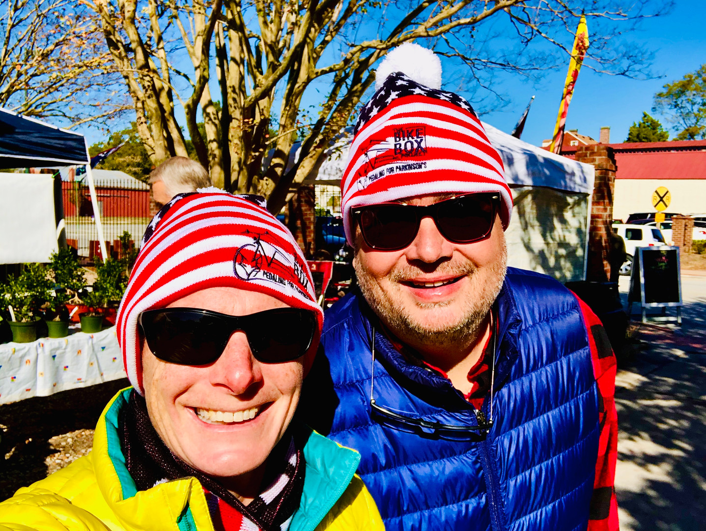 Red, White, and Blue knit cap