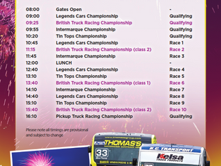 Timetable Brands Hatch