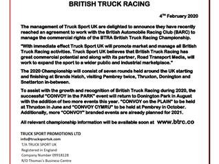 TRUCK SPORT UK - BRITISH TRUCK RACING CHAMPIONSHIP PROMOTER 2020
