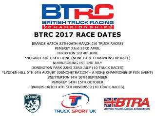 BTRC 2017 RACE DATES