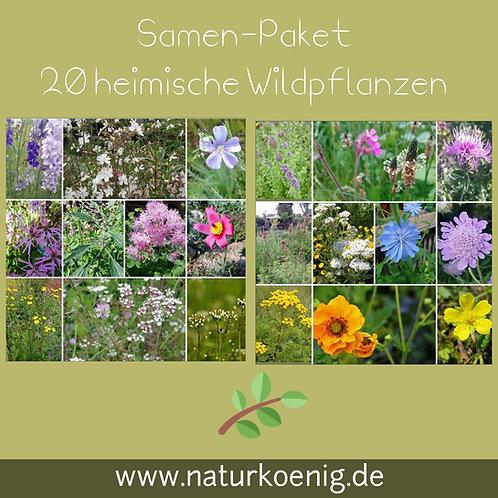"""Großes Paket """"Heimische Wildpflanzen"""" 20 Arten"""