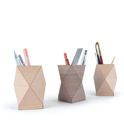 Another Studio for Design wooden pen pots
