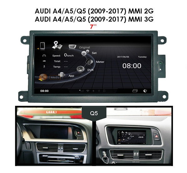 Android 9.0 MT for Audi A4 2009-2017 MMI 3G 7""