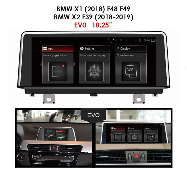 Android 9.0 MT for BMW X1 2018 F48 F49