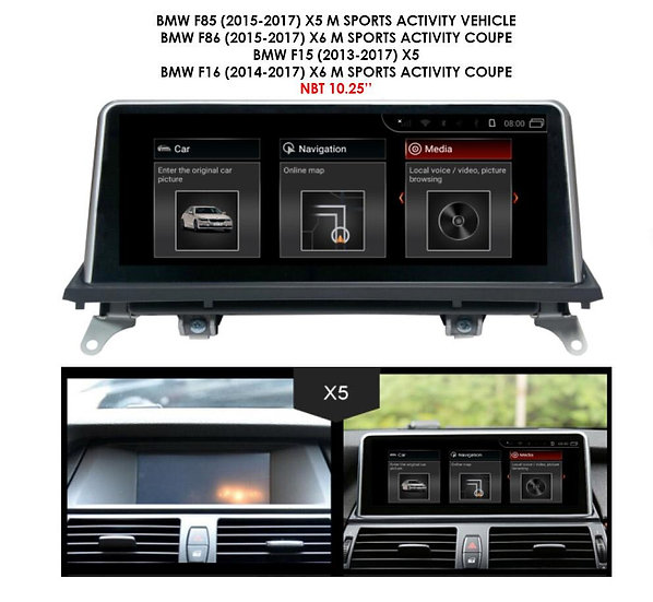Android 9.0 MT for BMW X5 M 2015-2017 F85