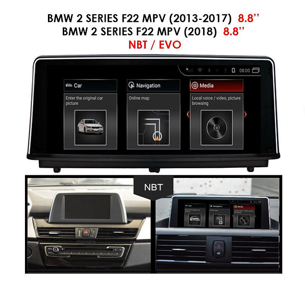 Android 9.0 MT for BMW 2 series 2013-2018 F22MPV