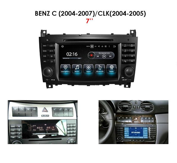 Stereo upgrade Mercedes CLK