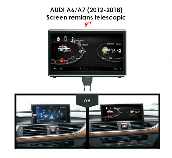 """Android 9.0 MT for Audi A6 2012-2018 9"""""""