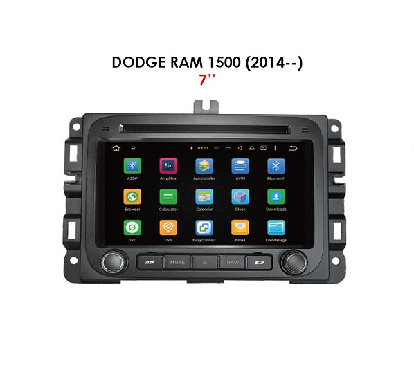 """Android 9.0 for Dodge Ram 1500 after 2014 7"""""""