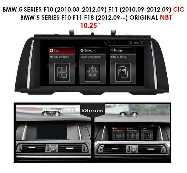 Android 9.0 MT for BMW 5 series 2012.09-- F10 F11 F18
