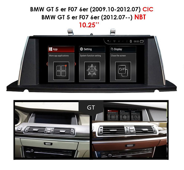 Screen upgrade for BMW GT 5 F07 2009-2012 CIC