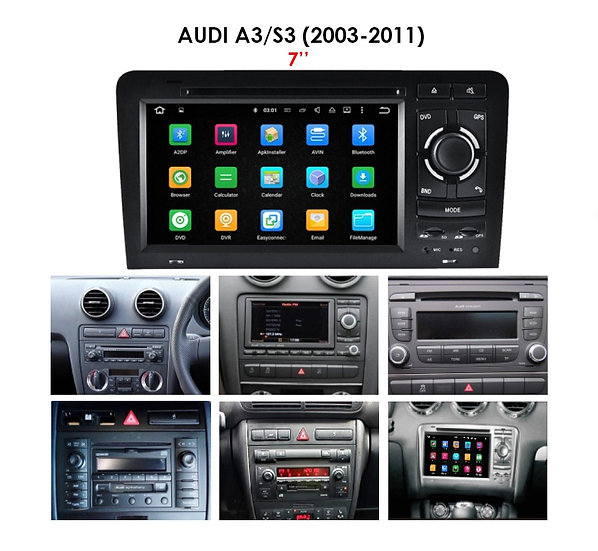 """Android 9.0 PX5 for Audi S3 2003-2011 7"""""""
