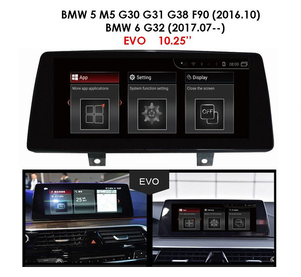 Android 9.0 MT for BMW 5 series 2016 M5 G30, G31, G38, F90