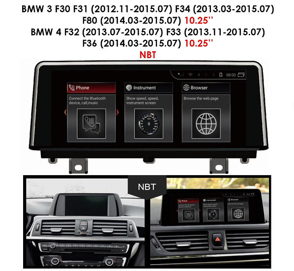 Android 9.0 MT for BMW 3 series 2012-2015 F30 F31 F34 F80