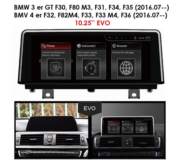 Android 9.0 MT for BMW 3 series 2016.07-- F30 F80 M3 F34 F35