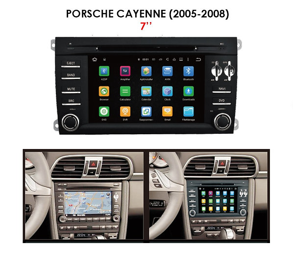 """Android 9.0 PX5 for Porsche Cayenne 2005-2008 7"""""""