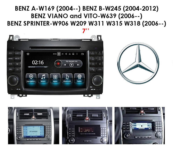 Android 9.0 for Mercedes B-Class 2004-2012 W245 7""