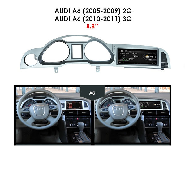 Android 9.0 MT for Audi A6 2005-2009 2G 8.8""
