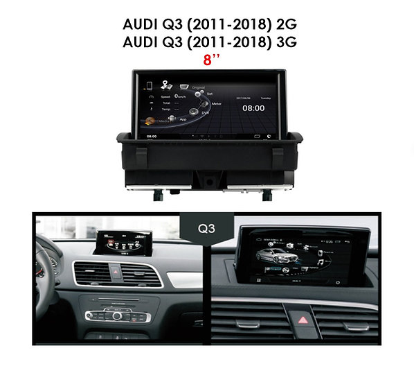 """Android 9.0 MT for Audi Q3 2011-2018 2G 8"""""""