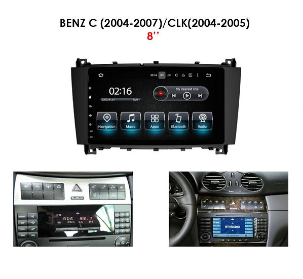 """Android 9.0 for Mercedes CLK-class 2004-2005 8"""""""