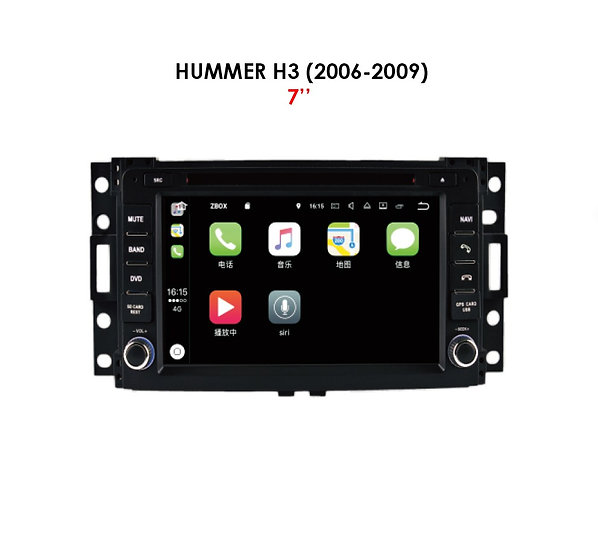 Android 9.0 for Hummer H3 2006-2009 7""