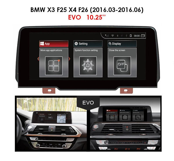 Android 9.0 MT for BMW X3 2016.03-2016.06 F25