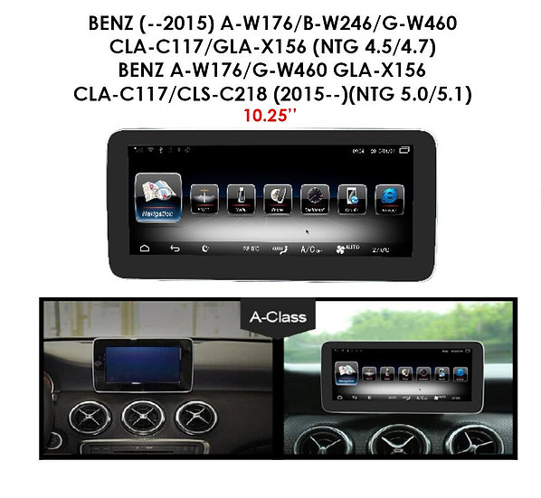 Android 9.0 MT for Mercedes Benz G class W460 (NTG 4.5/4.7) before 2015 10.25""