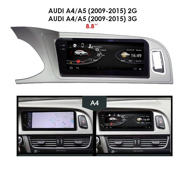 """Android 9.0 MT for Audi A5 2009-2015 3G 8.8"""""""