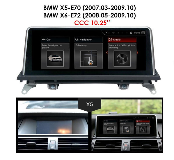 Android 9.0 MT for BMW X6 2008.05-2009.10 E72