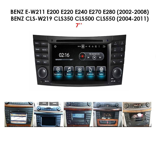 Screen upgrade Mercedes W211
