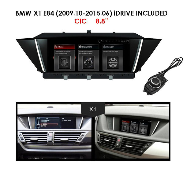 """Android 9.0 MT for BMW X1 2009.10-2015.06 E84 8.8"""""""