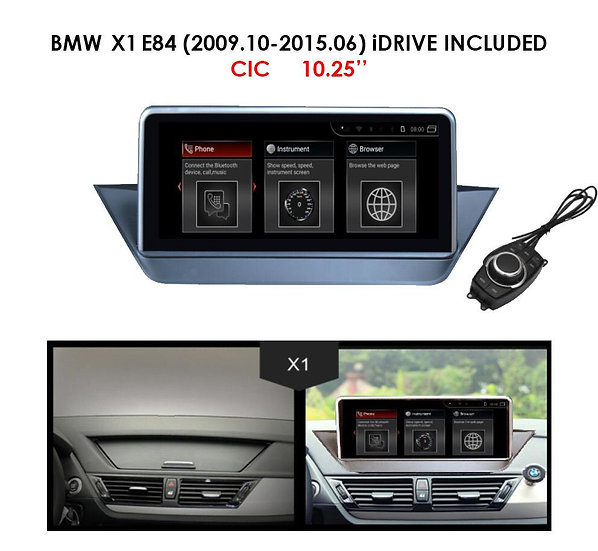 """Android 9.0 MT for BMW X1 2009.10-2015.06 E84 10.25"""""""