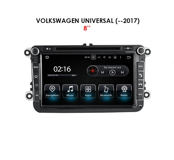 """Android 9.0 for Volkswagen universal before 2017 8"""""""