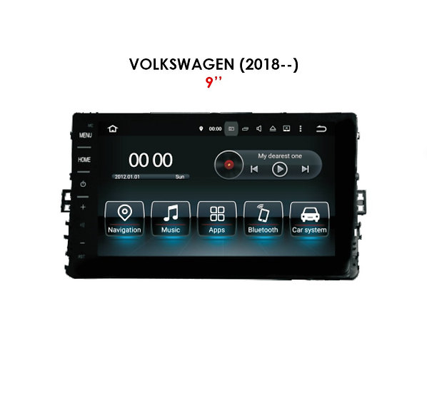 """Android 9.0 for Volkswagen after 2018 9"""""""