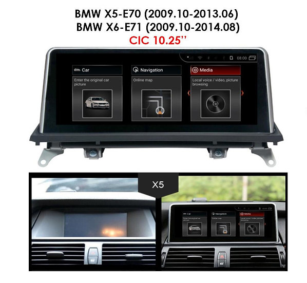 Android 9.0 MT for BMW X5 2009.10-2013.06 E70