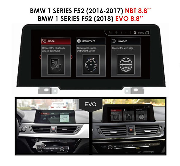 Android 9.0 MT for BMW 1 series 2016-2018 F52