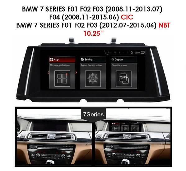 Android 9.0 MT for BMW 7 series 2008-2015 F01 F02 F03 F04