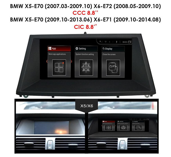 Android 9.0 MT for BMW X6 2009.10-2014.08 E71