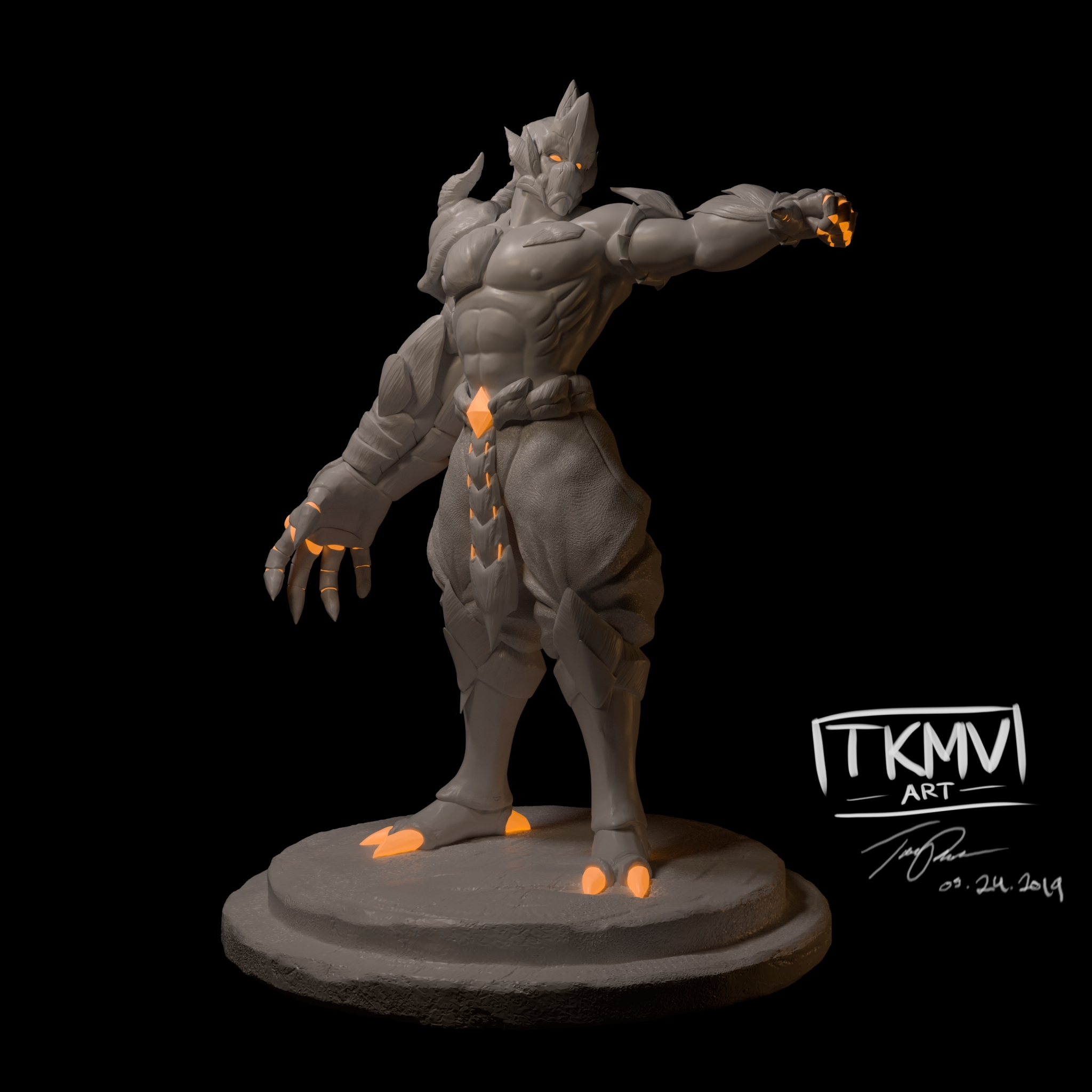 Doomfist Dragon Sculpt