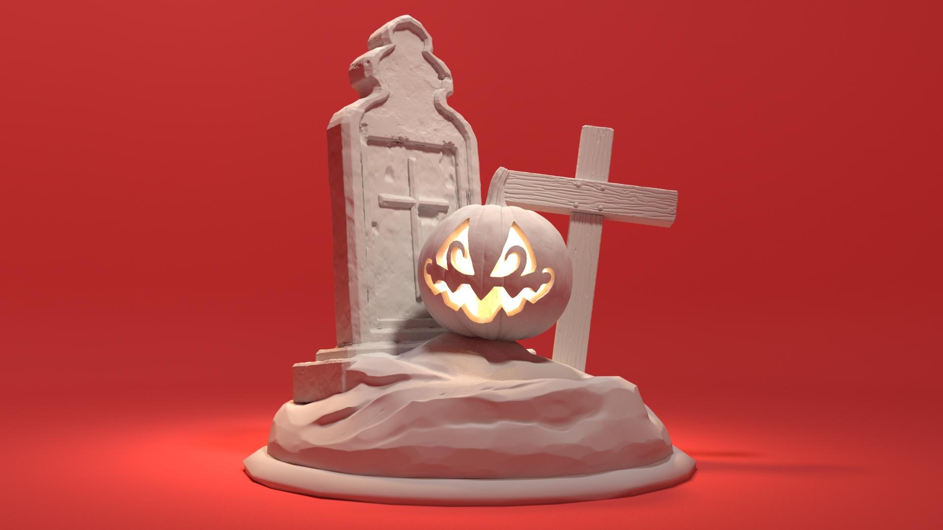 Halloween Statue