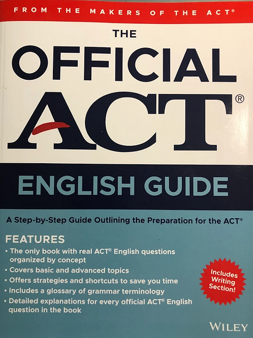 The Official ACT English Guide (2020)