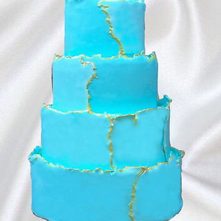 Torn Fondant Cake